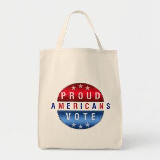 PROUD AMERICANS VOTE TOTE BAG