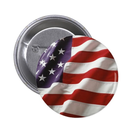 Proud and Patriotic USA Flag Button