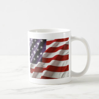 Proud and Patriotic USA Flag Classic White Coffee Mug