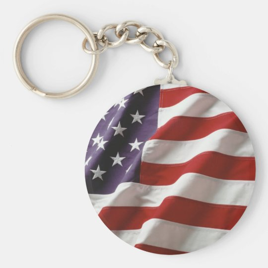 Proud and Patriotic USA Flag Keychain