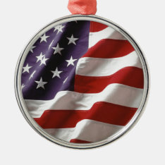 Proud And Patriotic Usa Flag Metal Ornament at Zazzle