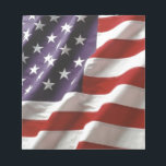 """Proud and Patriotic USA Flag Notepad<br><div class=""""desc"""">United States America Flag,  Proud and Patriotic</div>"""