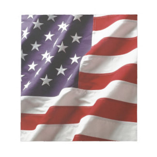 Proud and Patriotic USA Flag Note Pads