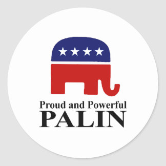 Proud and Powerful with Palin Sticker