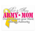 Proud and strong Army Mom Postcard