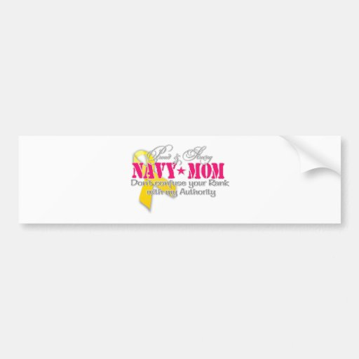 Proud and strong Navy Mom Bumper Sticker