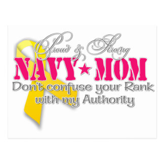 Proud and strong Navy Mom Postcard