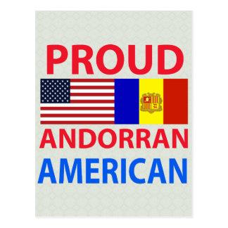 Proud Andorran American Postcard