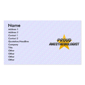 Proud Anesthesiologist Business Card