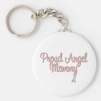 Proud Angel Mommy Keychain