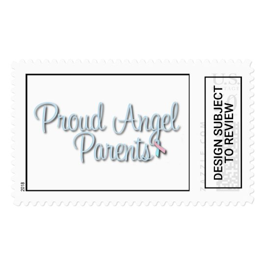 Proud Angel Parents Stamp