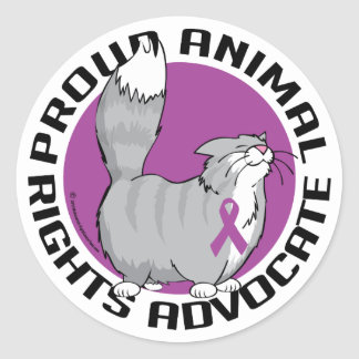 Proud Animal Rights Advocate Classic Round Sticker
