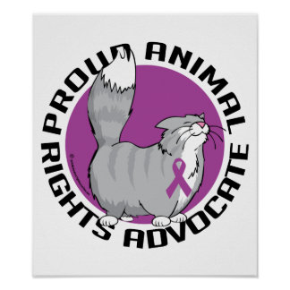 Proud Animal Rights Advocate Poster
