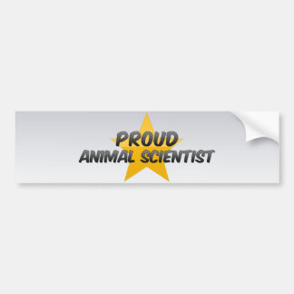 Proud Animal Scientist Car Bumper Sticker