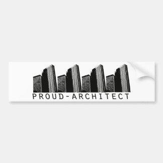 Proud Architect Design Bumper Sticker