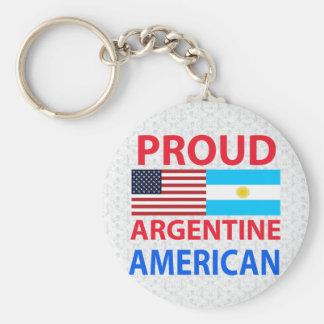 Proud Argentine American Keychain