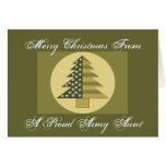 PROUD ARMY AUNT Card