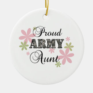 Proud Army Aunt [fl c] Christmas Tree Ornament