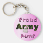 Proud Army Aunt Keychain