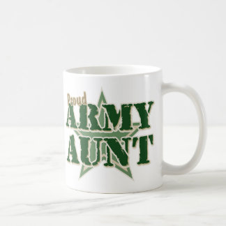 Proud Army Aunt Classic White Coffee Mug