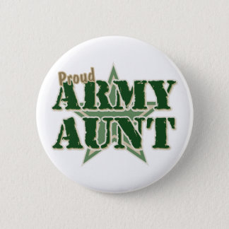 Proud Army Aunt Pinback Button