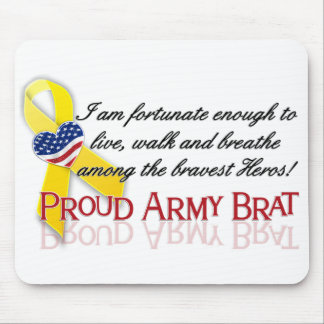 Proud Army Brat(red) Mouse Pad