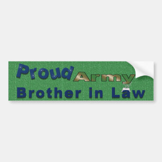 Proud Army Brother in Law Bumper Sticker Car Bumper Sticker