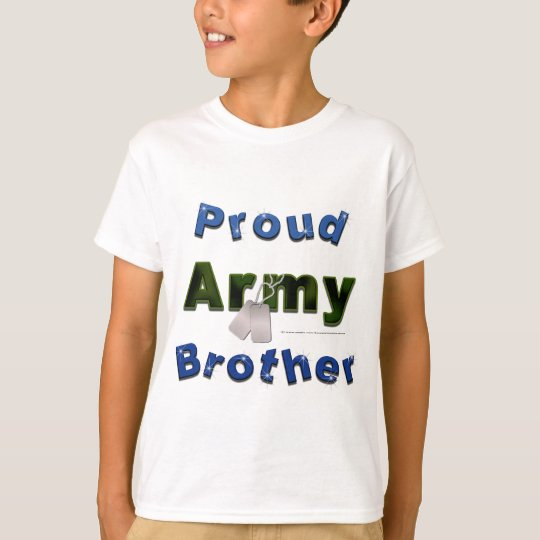 Proud Army Brother Kids Tee