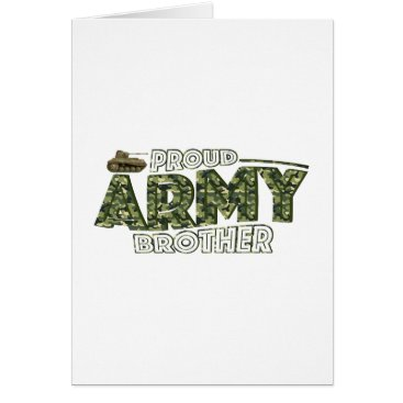 Proud Army Brother Patriotic Military Veteran Gift Card