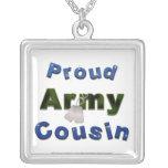 Proud Army Cousin Blue Necklace