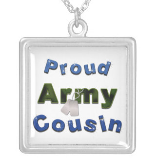 Proud Army Cousin Blue Necklace
