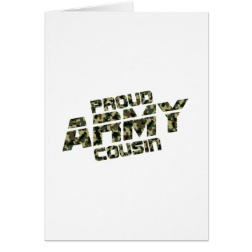 Proud Army Cousin Patriotic Military Veteran Gift Card