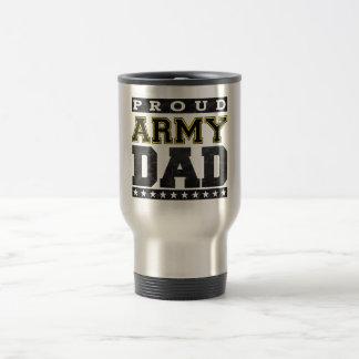 Proud Army Dad 15 Oz Stainless Steel Travel Mug