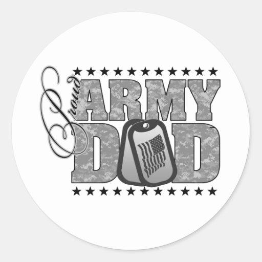 Proud Army Dad ACU Classic Round Sticker