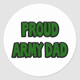 Proud Army Dad Classic Round Sticker