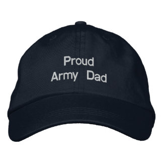 Proud Army Dad Embroidered Baseball Hat
