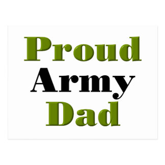 Proud Army Dad (green) Postcard