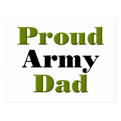 Proud Army Dad (green) Postcard