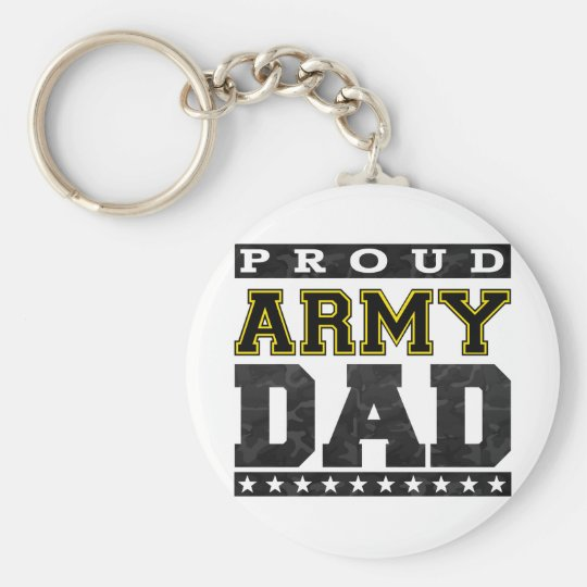 Proud Army Dad Keychain