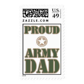 Proud Army Dad Postage Stamp
