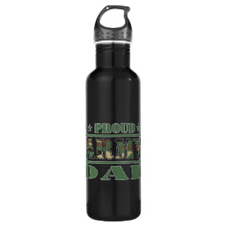 Proud Army Dad Stainless Steel Water Bottle