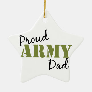 """Proud Army Dad"" Star Ornament"
