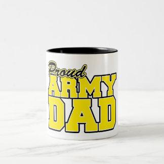Proud Army Dad Two-Tone Coffee Mug