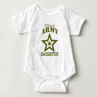Proud Army Daughter Baby Bodysuit