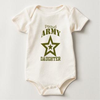 Proud Army Daughter Baby Bodysuit
