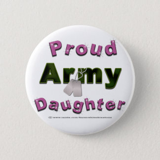 Proud Army Daughter Buttons