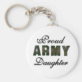 Proud Army Daughter Keychain