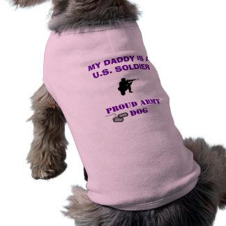 PROUD ARMY DOG PET T SHIRT