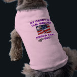 """PROUD ARMY DOG TEE<br><div class=""""desc"""">My daddy is a U.S. Soldier... . Proud ARMY dog</div>"""