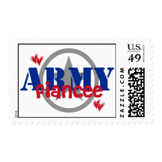 Proud Army Fiancee Postage Stamps